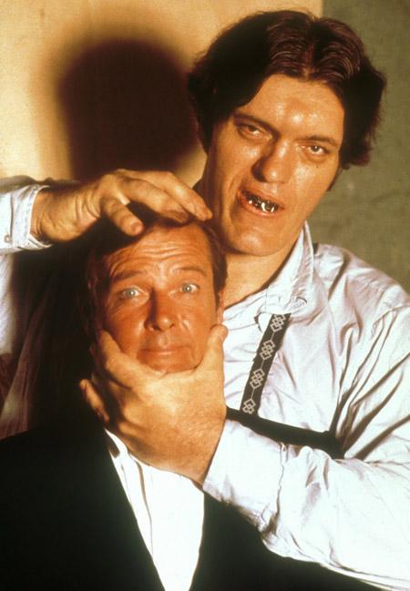 Roger Moore and Richard Kiel