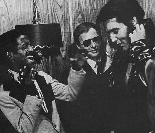 Sammy Davis Jr and Elvis Presley