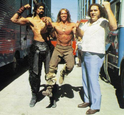 Wilt Chamberlain, Arnold Schwarzenegger ve Andre Giant