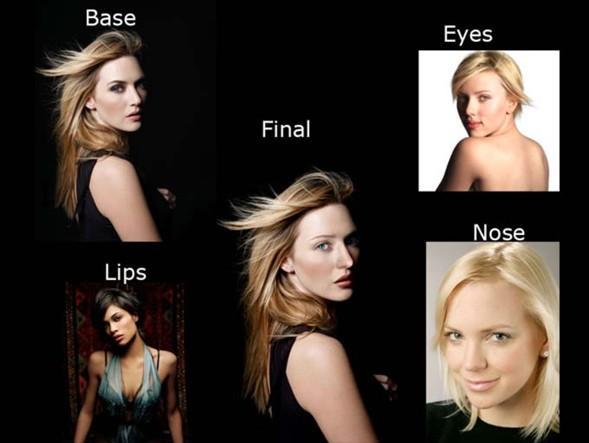 4 güzelin birleşiminden ilginç bir yüz ortaya çıkmış.