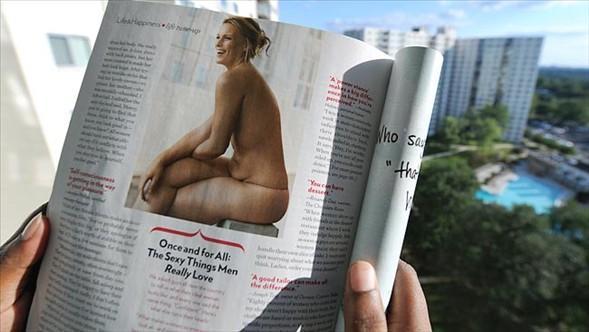 BU FOTOĞRAFLA ŞÖHRET OLMUŞTU    ABD'nin popüler kadın dergilerinden biri olan Glamour yayınladığı bu fotoğraf  Lizzie Miller'ın hayatını değiştirdi.