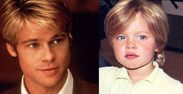 Dünyanın dört bir yanında hayranları ve milyon dolarlık servetleri olsa da onlar hala babalarının küçük çocukları... İşte en ünlü babalar...    Angeline Jolie ve Brad Pitt çiftinin dört yaşındaki kızları Shiloh, babasına olan benzerliği ile dikkat çekiyor.