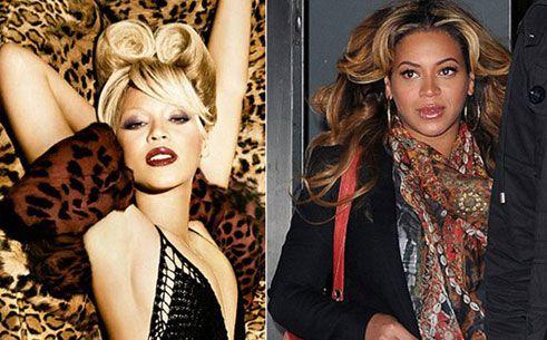 Hamileliği öncesinde çekilen fotoğraflarda photoshop'la teninin rengi  açılan şarkıcı, bugüne kadar olmadığı halde beyazlamış.