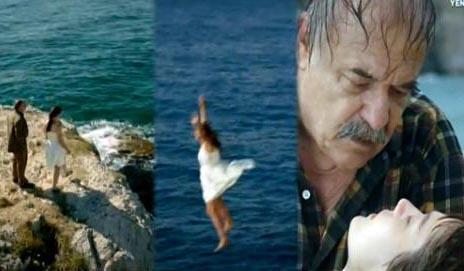 """UÇURUMDAN DÜŞÜP AKŞAM EVE GİTTİLER Yasemin Karababa adlı seyirci Bir Çocuk Sevdim dizisindeki intihar sahnesini inandırıcı bulmamış: """" Baba-kız metrelerce yükseklikten denize atladılar. Fakat ikisine de birşey olmadı. Üstelik Mine hamile...   Günümüzde ayağı takılıp yere düşen kadınlar çocuk düşürüyorlar, fakat ne hikmetse Mine'nin bebeğine hiçbir şey olmuyor. Aynı gün baba-kız sapasağlam bir şekilde eve dönüyorlar. Çok garip... """""""