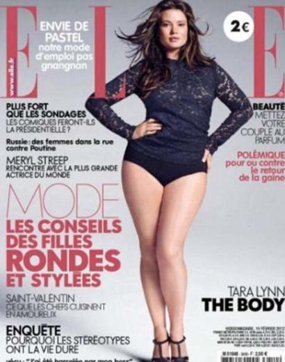 Gösteri dünyasındaki 'sıfır beden' modası sarsılıyor... Düyanın en çok satan dergileri birbiri ardına, dolgun hatlı kadınları ön plana çıkarmaya başladı.   Bunun son örneğini de Fransız Elle dergisi sergiledi.
