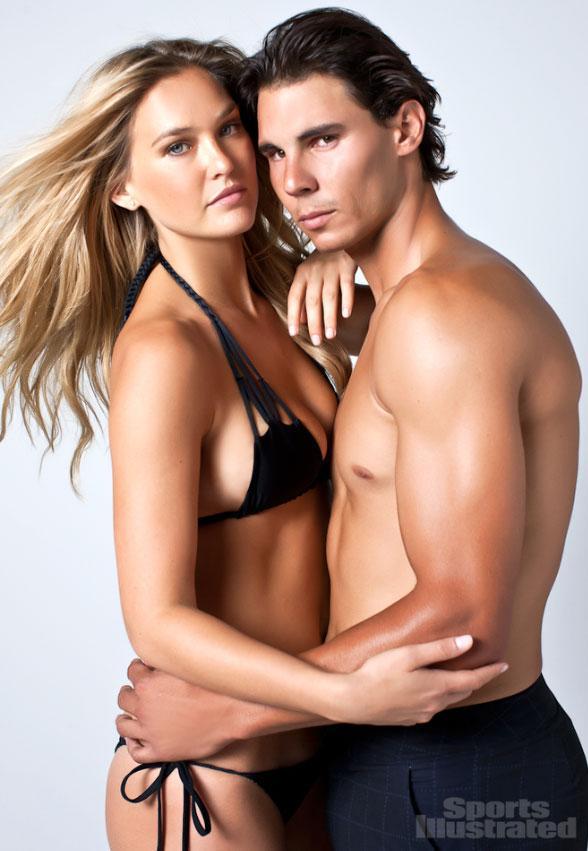 İspanyol tenisçi Rafael Nadal ile İsrailli top model Bar Rafaeli, birlikte poz verdi.
