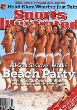 Rachel Hunter, Elle MacPherson and Rebecca Romjin, 2006'nın kapağı için poz verdi.