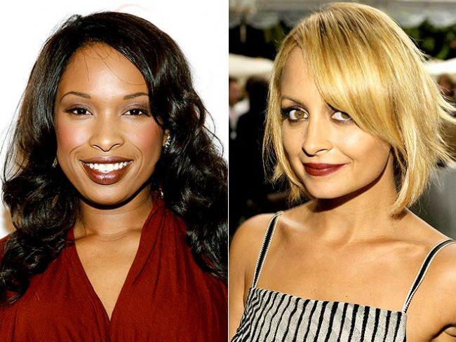 Vamp dudaklar Tam kış aylarına göre bir renk, Nicole Ritchie ve Jennifer Hudson koyu renklerden vazgeçememiş.
