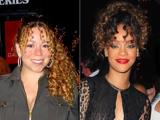 Mariah Carey ve Rihanna, 90'ların tarzı olan kıvırcık saçın tekrar moda olduğunu gösterdi.