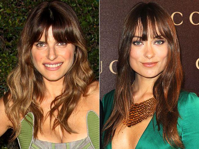 Uzun ve dağınık kaküller Özellikle geniş alınlı kadınlar için çok kullanışlı olacak bir saç modeli.