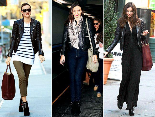 Miranda Kerr'in kapitone deri ceketi  Balenciaga ve $2,865 dolar tutuyor. Biz bu cekete sahip olamasak da, bir benzeri ilkbahar dolabımızda mutlaka olmalı.