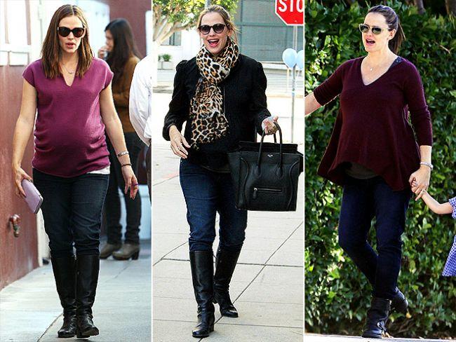 """Jennifer Garner'ın hamilelik tarzını çok beğeniyoruz. Özellikle Paige """"Union Skyline"""" hamile pantolonlarına bayıldık."""