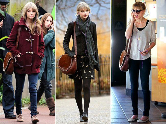 Messenger çantalardan bahsetmiştik ya, Taylor Swift de bu çantaları tercih edenlerden. Genç şarkıcının çantasının markası Rugby Ralph Lauren.