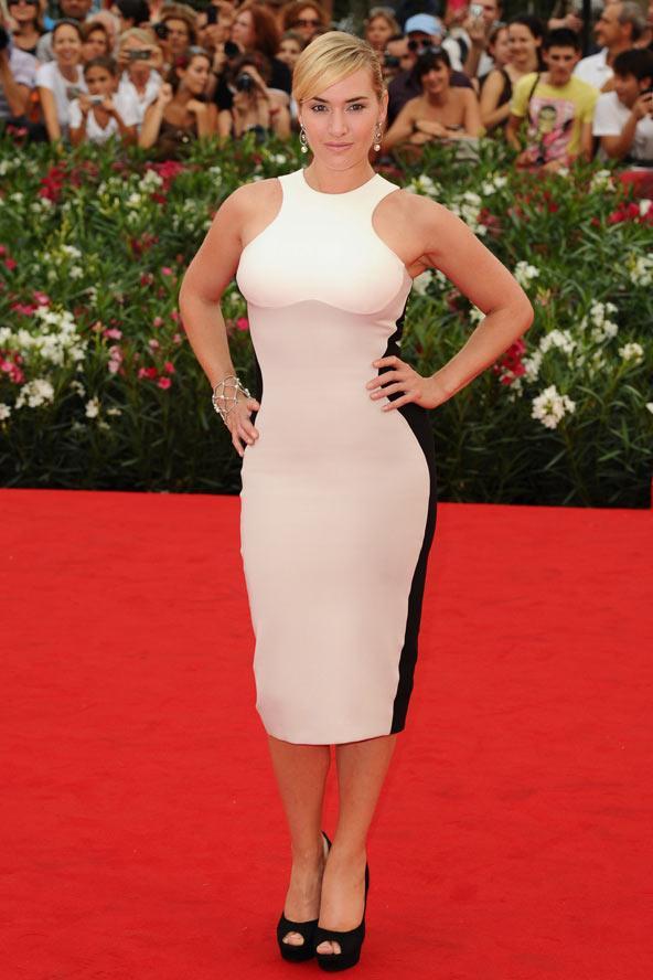 Kate Winslett, Stella McCartney'nin optil ilüzyon yaratan tasarımını ilk giyenlerden.