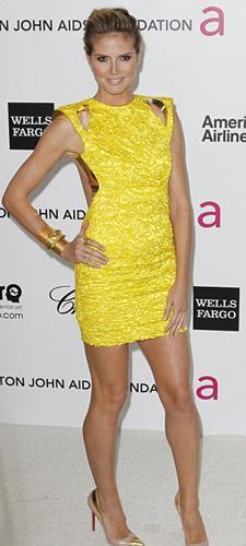 Eşi Seal'den yeni boşanan ünlü model Heidi Klum ve Victoria's Secret'in dünyaca ünlü meleği Bar Refaeli, önceki gece 20.si düzenlenen Elton John AİDS Derneği Ödülleri partisindeydi.