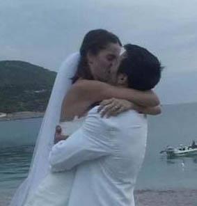 EVLENDİ AMA SONRA PİŞMAN OLDU Manken ve oyuncu Tuğçe Kazaz'ın Yunan aktör Yorgos Seitaridis ile evliliği olay olmuştu.