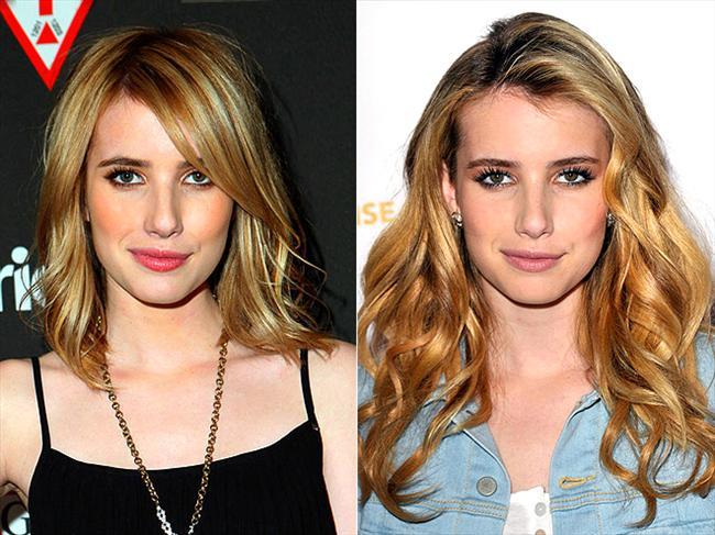 Julia Roberts'ın yeğeni olan Emma Roberts'ın saçları da biraz kısaldı. Katlı saç kesimini biz çok beğendik.