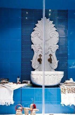 Burası da ünlü bir sanatçının banyosundan bir köşe.