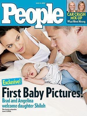 Tüm dünya basınını peşinden koşturan Angelina Jolie ve Brad Pitt çiftinin biyolojik kızları Shiloh'un fotoğrafı için 4.1 milyon dolar ödenmişti.