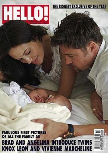 Vivienne Marcheline ve Knox Leon'un fotoğraflarının yayın hakları tam 14 milyon dolara satıldı. Bu, bugüne kadar bir ünlü bebeğinin ilk fotoğrafları için ödenen en yüksek ücret.