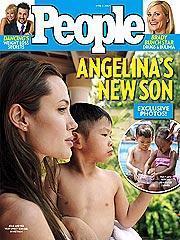Jolie, Vietnam'dan evlat edindiği oğluyla ilk pozunu People dergisine vermişti.