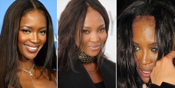 Dünyanın en güzel kadınları arasında sayılan Naomi Campbell ve Megan Fox da benzer görüntüler vermişti.