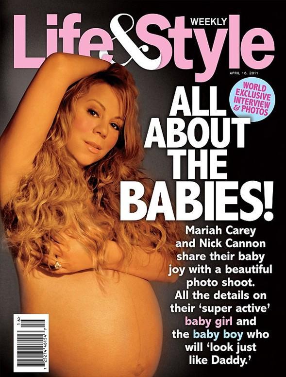 Başını, Demi Moore'un çektiği ve aralarında Britney Speark, Monica Bellucci,  Eva Herzigova,  Claudia Schiffer'ın da bulunduğu bir çok ünlünün hamile pozları dergi kapaklarını süslemişti...  Ünlü şarkıcı Mariah Carey doğmamış bebeğiyle objektif karşısına geçti. Böylece Carey de hamilelik pozu veren yıldızlar kervanına katıldı.