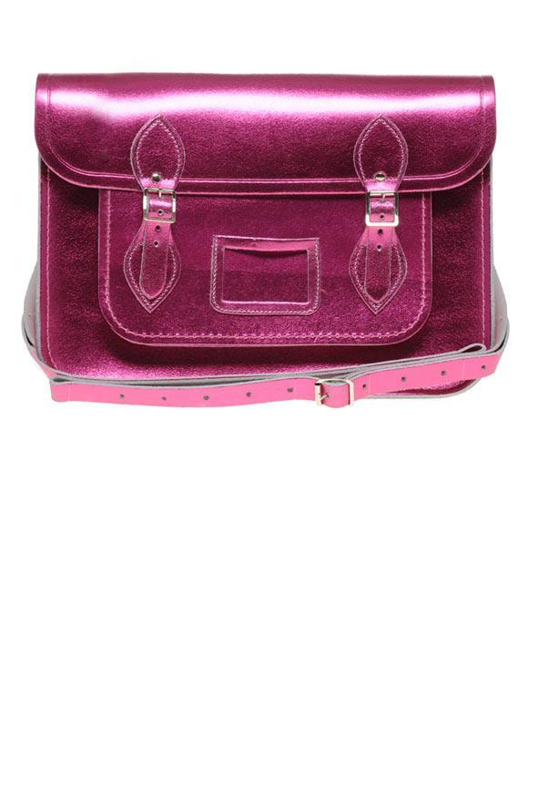 Pembe metalik çanta, Cambridge Satchel Company