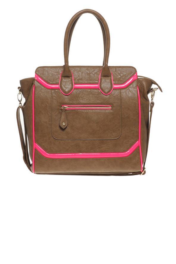 Pembe ve kahverengi el çantası, Aldo.