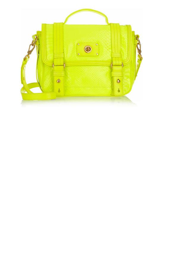 Sarı, neon çanta, Marc By Marc Jacobs