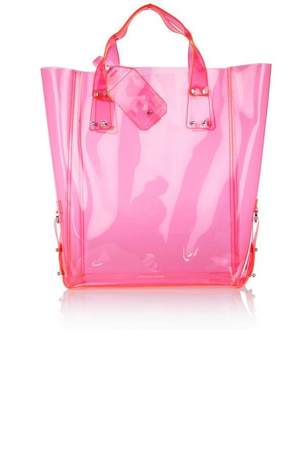 Kingsland pembe PVC plaj çantası, McQ Alexander McQueen