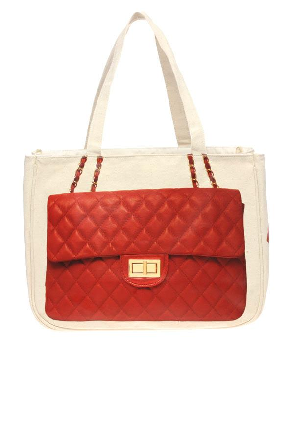 Chanel baskılı bez çanta, Thursday Friday