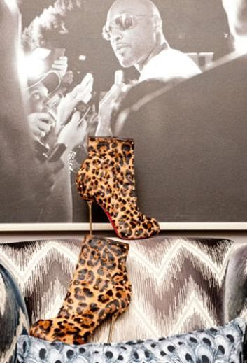 Khloe Kardashian'ın çalışma odasından bir ayrıntı.