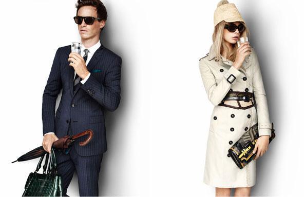Model Cara Delevingne ve aktör Eddie Redmayne Burberry'nin yeni sezon reklam afişlerini süslüyorlar.