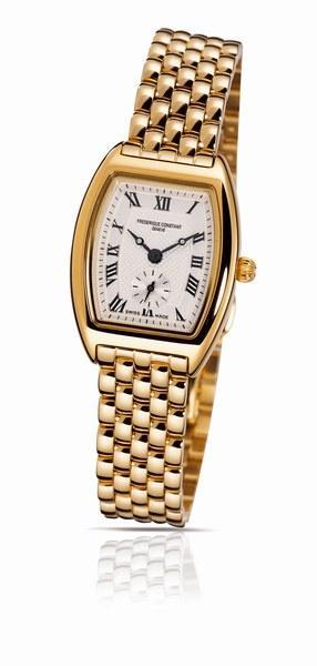 Tonneau gold watch © Frederique Constant