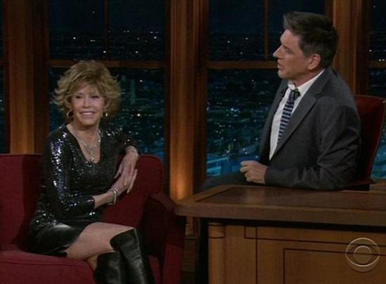 Yeni çıkardığı fitness DVD'sinin promosyonu için bir sohbet programına konuk olan Jane Fonda tam 73 yaşında.