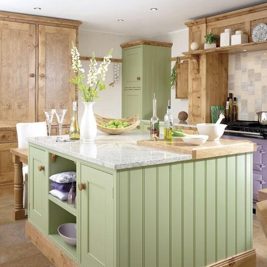 Su yeşili ve açık kahve tonları da mutfağınızın sevimli görünmesini sağlayan pastel ve mutfak için uygun renklerdendir.  Moda Kanalları Editörü: Burcunur YILMAZ