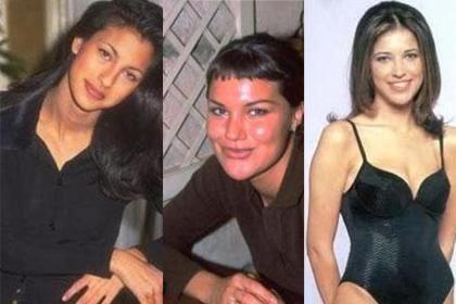 Bu halleri çoktan unutuldu  Bu fotoğraftaki üç genç kadın bugün podyum ve TV ekranının en ünlülerinden. Ama yıllar önceki halleriyle şimdiki görüntüleri arasında dağlar kadar fark var. İşte ekranın güzel yüzlerinin değişimi.