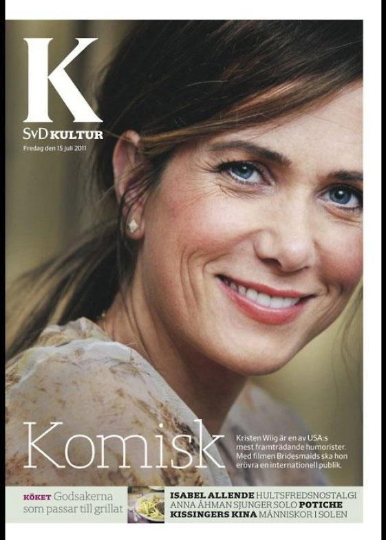 Kristin Wiig For SVD Kultur  Kaynak: huffingtonpost