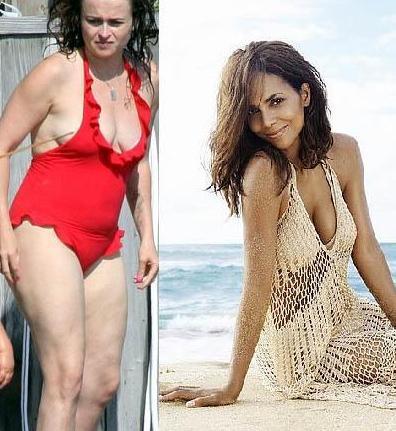 Helena Bonham Carter ve Halle Berry 1966 doğumlu ünlü yıldızların görüntüleri birbirinden çok farklı. Etine dolgun görüntüsü yüzünden Bonham Carter kimi zaman daha yaşlı görünüyor.   Berry ise hem genleri hem de uyguladığı özel beslenme ve spor programı sayesinde yaşından daha genç gösteriyor.