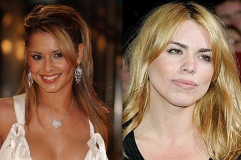 Cheryl Cole ve Billie Pipper 1983 yılında dünyaya gelen iki ünlünün görüntüsü birbirinden farklı. Yıllar Pipper'ın yüzünde daha kalıcı izler bırakmış.