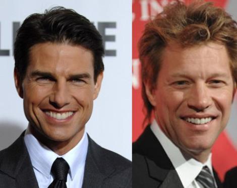Tom Cruise ve Jon Bon Jovi 1962 doğumlu Cruise'un sırrı hala çözülebilmiş değil. Yıllar geçiyor ama o hala yaşlanmıyor.