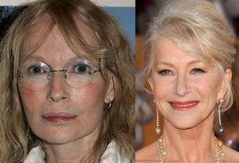 Mia Farrow ve Helen Mirren  1945 doğumlu iki yıldızdan hangisi daha genç görünüyor sizce?