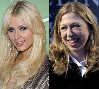 Paris Hilton ve Chelsea Clinton İkisinin de 30 yaşında olduğuna inanmak zor..
