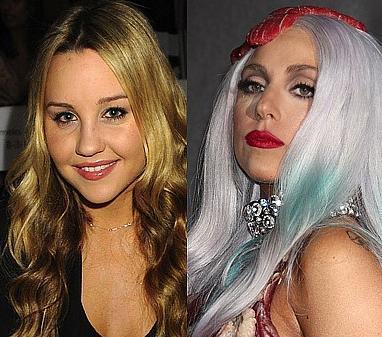Amanda Bynes ve Lady Gaga İkisi de 1986 doğumlu. Ama abartılı makyajıyla Lady Gaga daha yaşlı görünüyor.