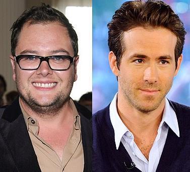 Alan Carr ve Ryan Reynolds 1976'da doğdular. Ama Reynolds (solda) daha genç görünüyor.
