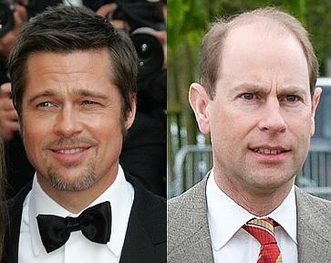 Brad Pitt ve Prens Edward 1963 doğumlu bu iki ünlüden hangisi daha genç görünüyor sizce..