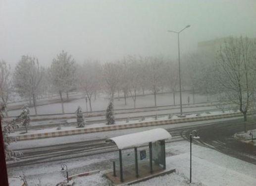 Şahin Irmak evinin penceresinden çektiği fotoğrafı paylaştı.