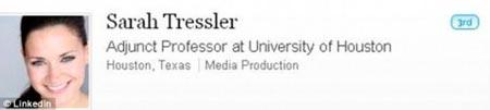 Tressler'in LinkedIn'deki profilinde ise Houston Üniversitesi mezunu olduğu ve yardımcı doçent olarak çalıştığını yazdığı kaydedildi.