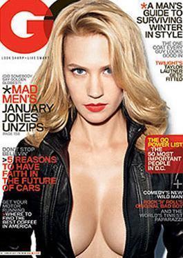 """PHOTOSHOP MU DEĞİL Mİ  Man Men adlı dizinin yıldızlarından January Jones'un GQ dergisine verdiği kapak pozu tartışmalara neden oldu. Bazı magazin siteleri Jones'un kapak fotoğrafının sıkı bir photoshop uygulamasından geçtiğini bunun en önemli kanıtının da yıldızın göğüsleri olduğunu ileri sürdüler.   Normalde küçük göğüslere sahip olan Jones'un kapak pozunda bu kadar kıvrımlı görünmesinin nedeninin photoshop tekniği olduğu iddia edilirken dergi editörleri """"Biz herhangi bir müdahalede bulunmadık. January Jones'un kıvrımları zaten yerli yerindeydi"""" diye konuştular."""